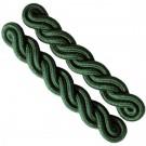 Shoulder Cords Dark Green 2 Ply