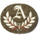 A In Wreath Khaki Worsted Badge
