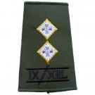 9th/12th Lancers Rank Slides, Olive Green, (Lt)