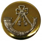 Light Infantry Mounted Button, Blazer, Bright Gilt & Dead Silver Mount (32L)