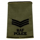 RAF Rank Slides, Olive Green, (Sgt), Police