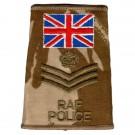 RAF Rank Slides, Desert, (F/Sgt), Police UK