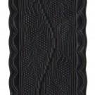 Black Oakleaf Lace 38mm