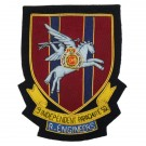 RE 9 Ind PARA Sqn Wire Blazer Badge