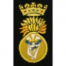 Royal Irish Fusiliers Blazer Badge, Silk