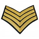 4 Bar Chevron (Gold on Navy) No