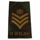 R WELSH Rank Slides, CS95, (C/Sgt)