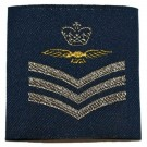 RAF Rank Slides Woven, RAF Blue, (F/Sgt Aircrew)