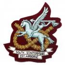 S Staffs 1 Airborne Wire Badge
