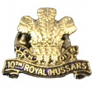 10th Royal Hussars Lapel Badge