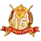 16th/5th Lancers Lapel Badge