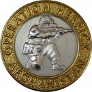 OP-HERRICK Afghanistan Gilt Rim/Silver Centre Blazer Button (32L)