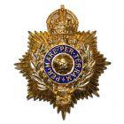 Royal Marines Helmet Plate (Enamelled)