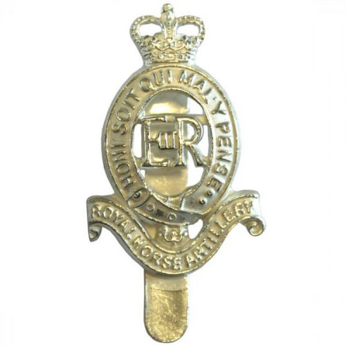 Royal Horse Artillery Beret Badge, Silver