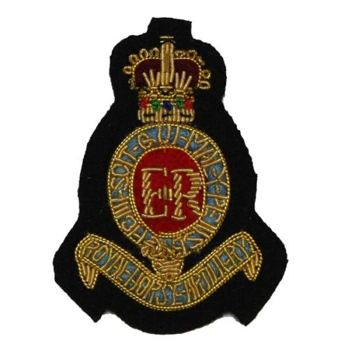 Royal Horse Artillery Beret Badge, 3, Officer, Red