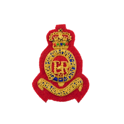 RHA Off Side Hat Badge (All Red)