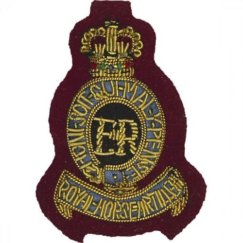 Royal Horse Artillery Beret Badge, 7, Officer, on PARA