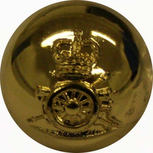 Royal Horse Artillery Button, Ball, Gilt (26L)
