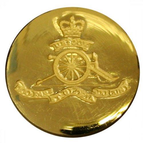 Royal Artillery Button, Blazer, Indented, Gilt (22L)