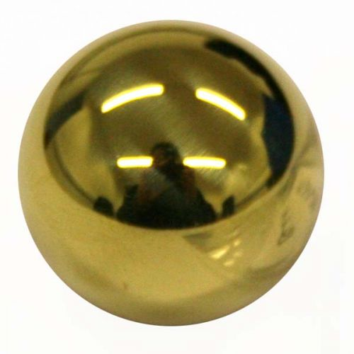 Plain Button, Ball, Polished Brass (30L)