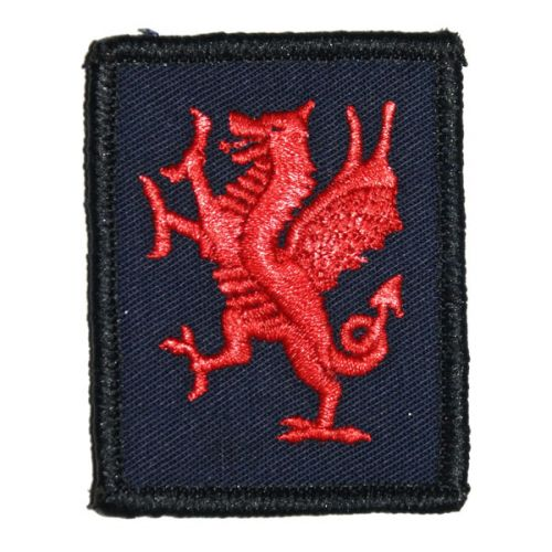 RWF Red Dragon Patch - On Navy