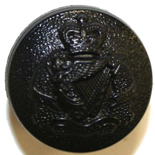 Royal Irish Regiment Button, Blazer, Black Nylon (22L)