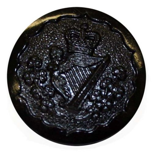 Royal Irish Regiment Button, Cap, Black Nylon, No1 & SD (30L)