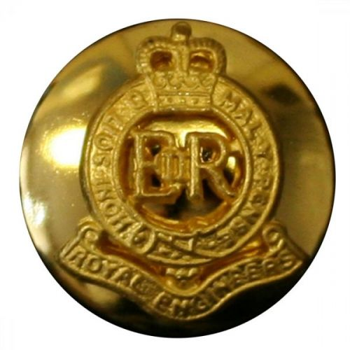 Royal Engineers Button, Mounted, Gilt (30L)