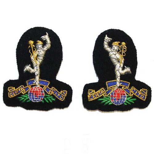 R Signals Band EMB Collar Badges