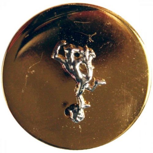 Royal Signals Button, Mounted, Flat (Small)
