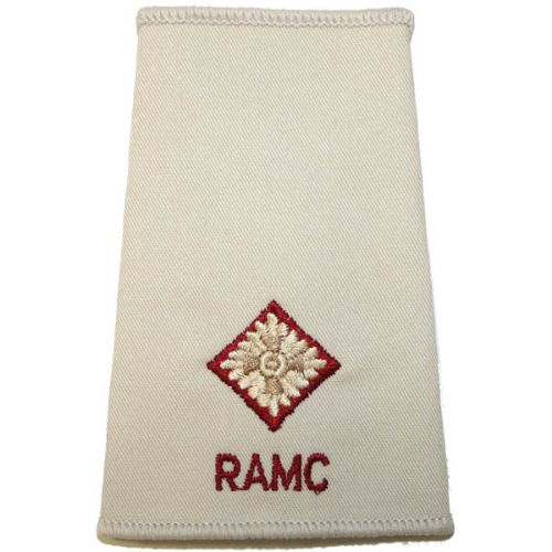 RAMC Rank Slides, Cream, (2/Lt)