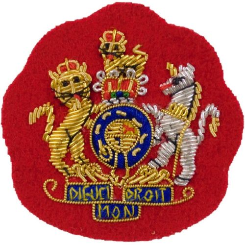 RA WOI (Gold on Red) Badge