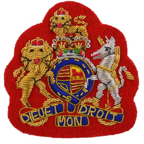 RA WO1 No1 Dress (Gold on Red) Badge