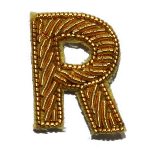 Small Gold Letter R