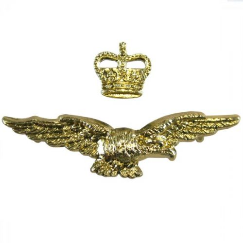 Royal Air Force Cap Badge, Side Cap, Officers