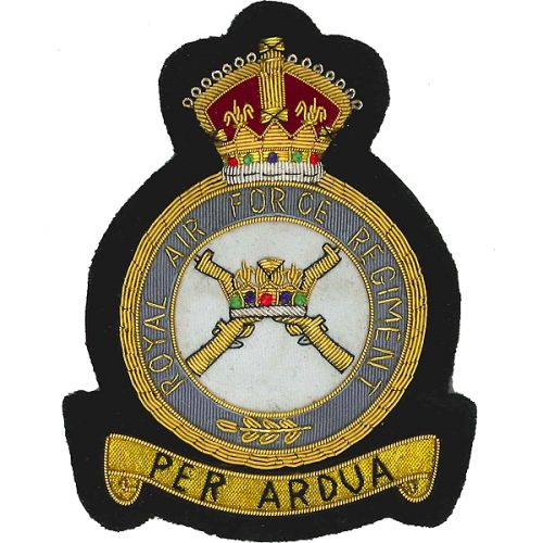 RAF Regiment GV1R Blazer Badge