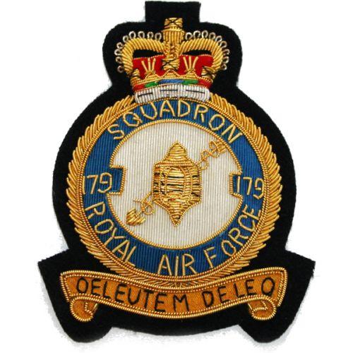 RAF 179 Sqn Wire Blazer Badge
