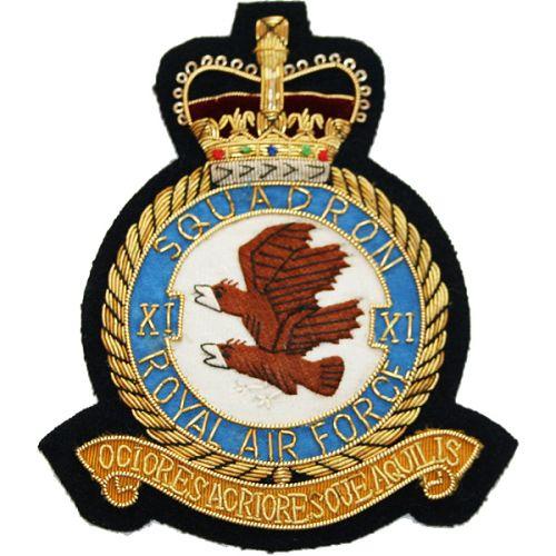 RAF 11 Sqn Wire Blazer Badge
