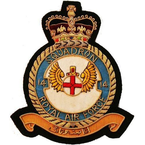 RAF 14 Sqn Wire Blazer Badge