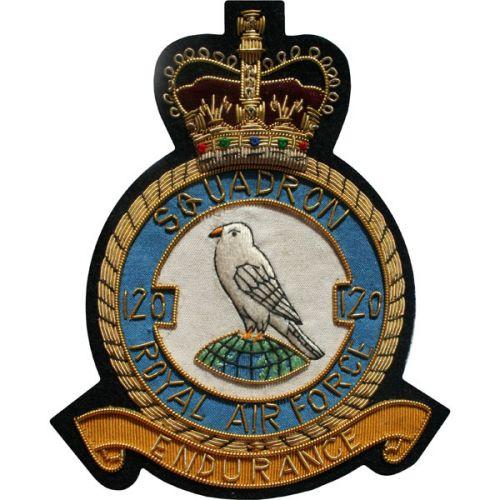 RAF 120 Sqn Wire Blazer Badge