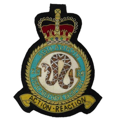 Royal Air Force Regiment Blazer Badge, 26 Squadron, Wire