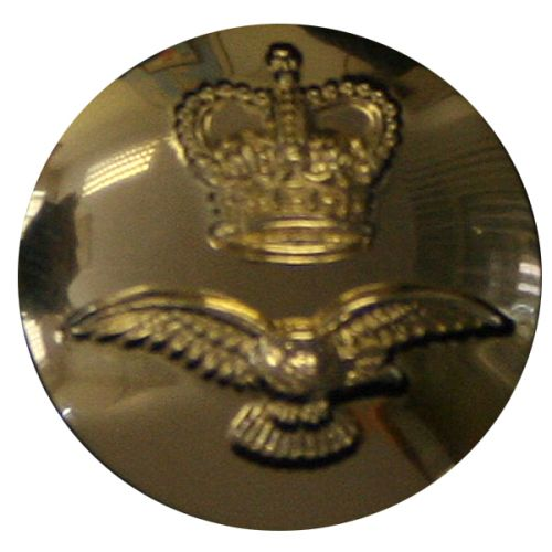 Royal Air Force Button, Anodised (27L)
