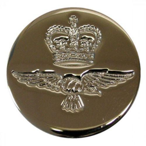 Royal Air Force Button, Blazer, Chrome (26L)