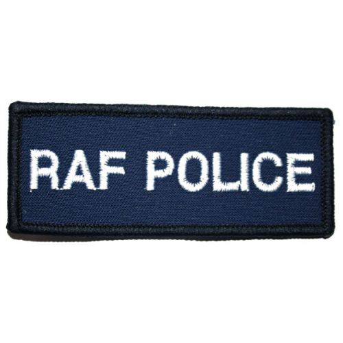 Royal Air Force Police Blazer Badge, White on Navy