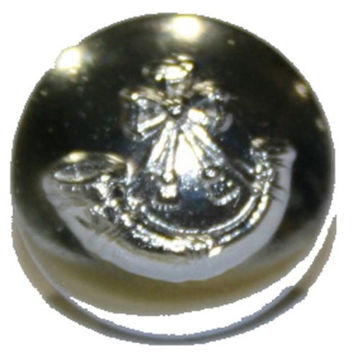 Light Infantry Button, Silver Anodised (22L)