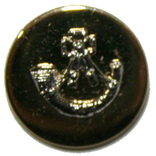 Light Infantry Mounted Button, Blazer, Bright Gilt & Dead Silver Mount (22L)
