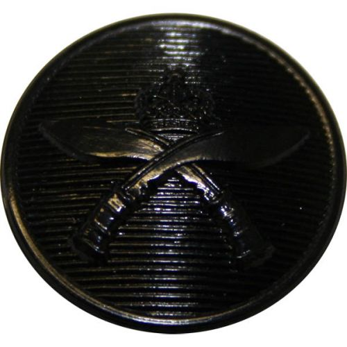 Royal Gurkha Rifles Button, Black Nylon (30L)