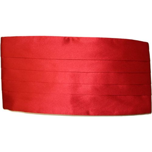 Red Silk Cummerbund