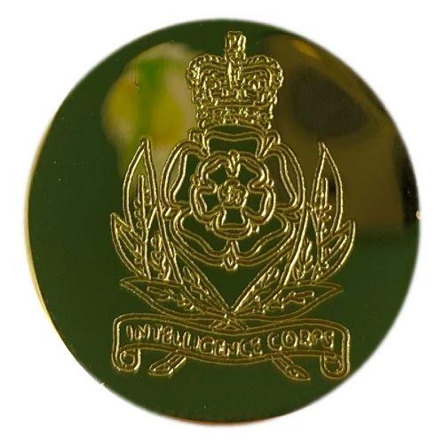 Intelligence Corps Engraved Blazer Button (24l)