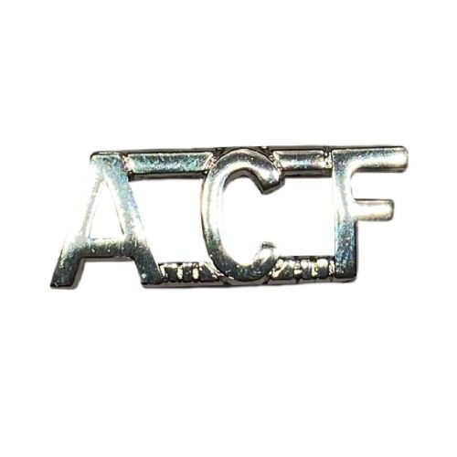ACF Shoulder Titles Silver Anodised